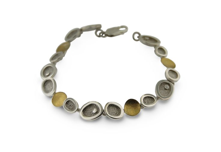 Bracelet silver and gold  Audar collection Ref.20B1803S www.enrictorres.com