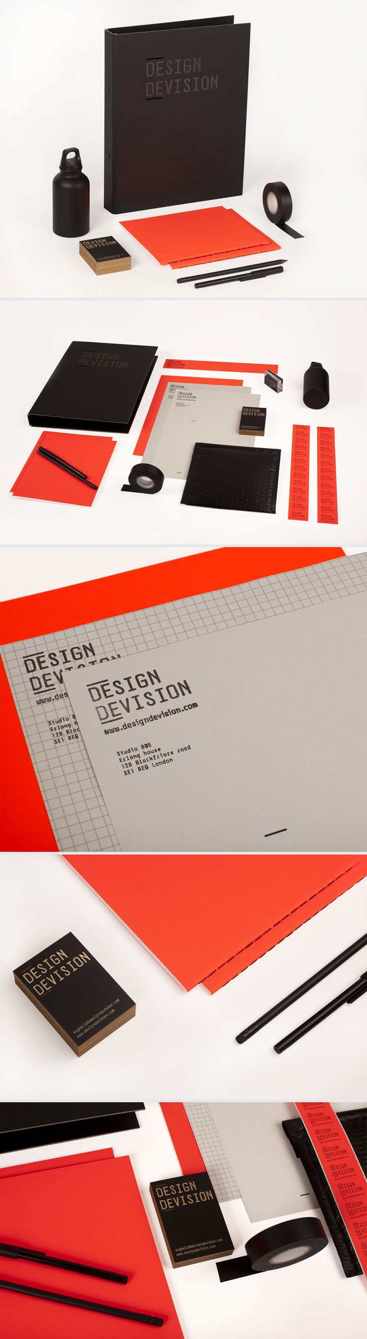 Design Devision branding identity, stationery, and collateral designs