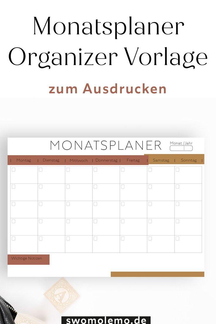 Kalender 2020 und Organizer / Planer Vorlagen zum ...