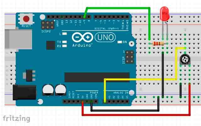 pwm-con-arduino-led. Funcion Map.