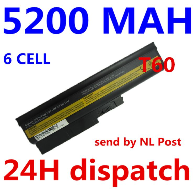 5200mah 6 cells Replacement Laptop Battery For IBM ThinkPad R60 R60e T60 T60p Lenovo ThinkPad R500 T500 W500 laptop batteria #jewelry, #women, #men, #hats, #watches, #belts