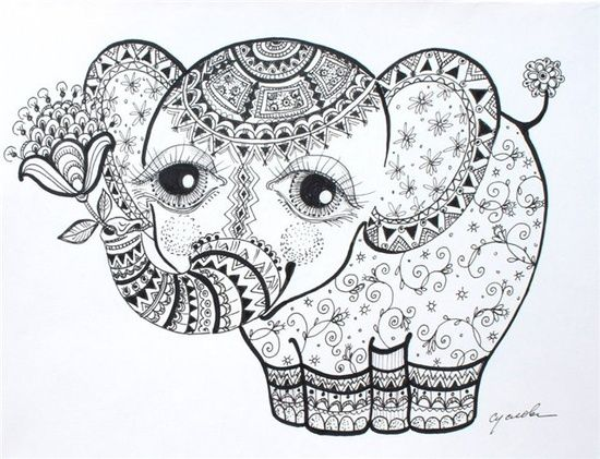 218 best SVG FILES images on Pinterest Silhouette cameo projects - new elephant mandala coloring pages easy