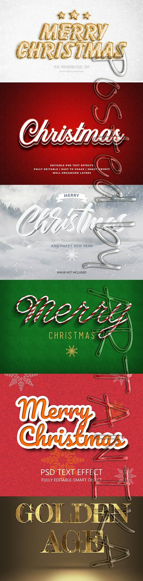 Merry Christmas Text Effect Set (With images) Merry