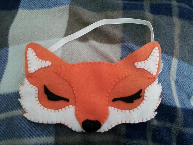 my felt fox eye-mask....inspired by http://www.etsy.com/listing/93524334/orange-fox-mask-child
