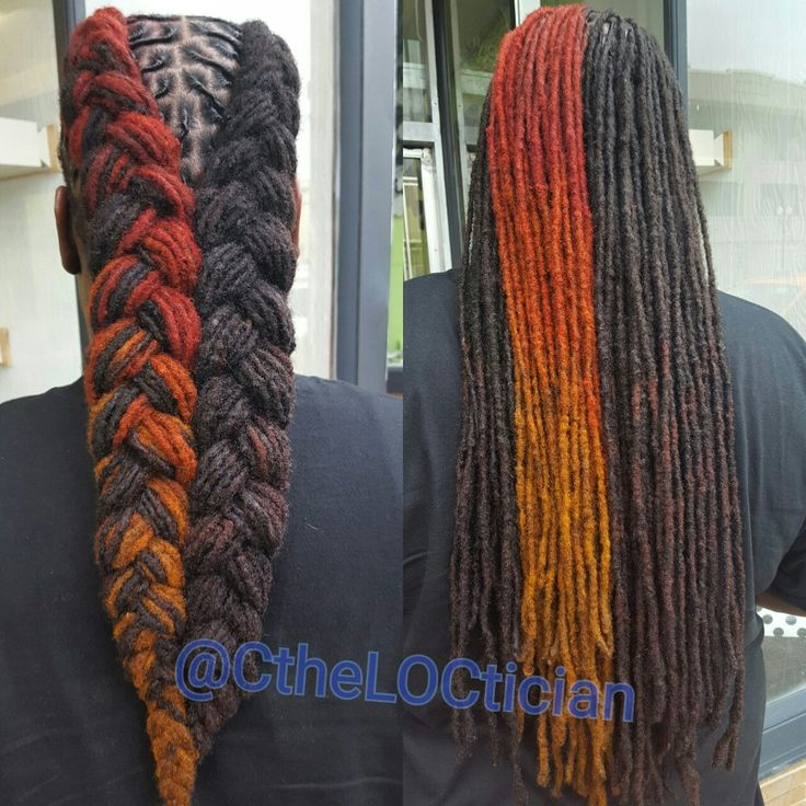 Fire locs, color for men, loc color, color du jour, Locs, locs with color, ombre, wedding hair, loc styles, updos, loc updos, nice locs, beautiful locs, beautiful hair, braids, natural hair, loctician in Jacksonville Florida, best styles for everyday wear, hair art, loc art, not dread locs, Ciara the LOCTICIAN, CtheLOCtician.com, @CtheLOCtician