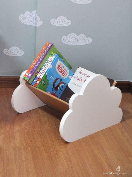 Porta Livros de Chão Nuvem - Cadô Design