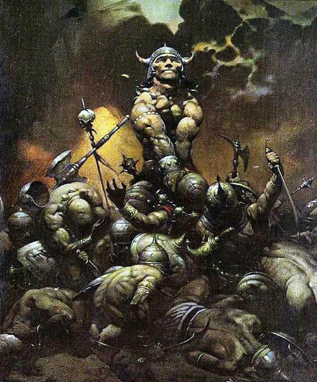 Conan the Destroyer by Frank Frazetta