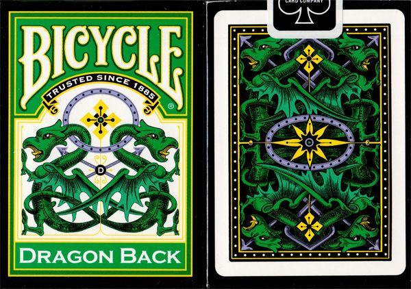 Bicycle Dragon Back Green Available at http://www.playingcards4magic.com/products/collector/