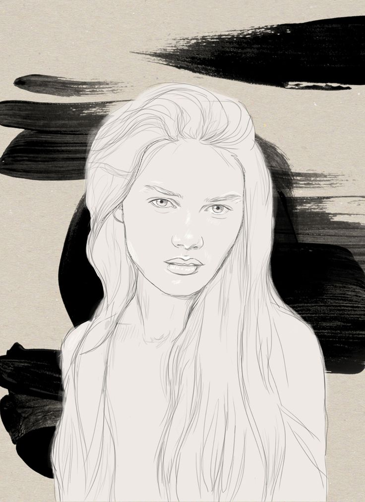 LUNA  Digital artwork by Phaedra seven.  #digital #painting #illustration #sketch #drawing #custom #portrait