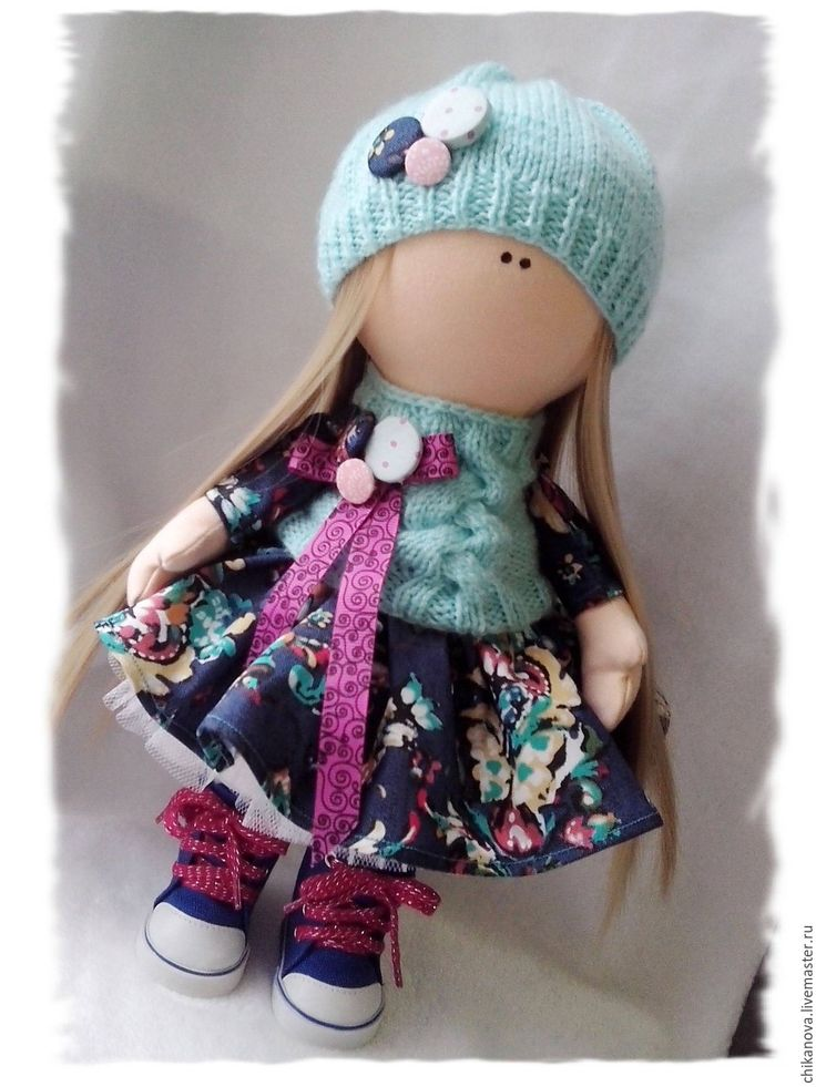 Купить Джинсовая фантазия. Кукла снежка - синий, кукла тыквоголовка, тыквоголовка, тыквоголовая кукла