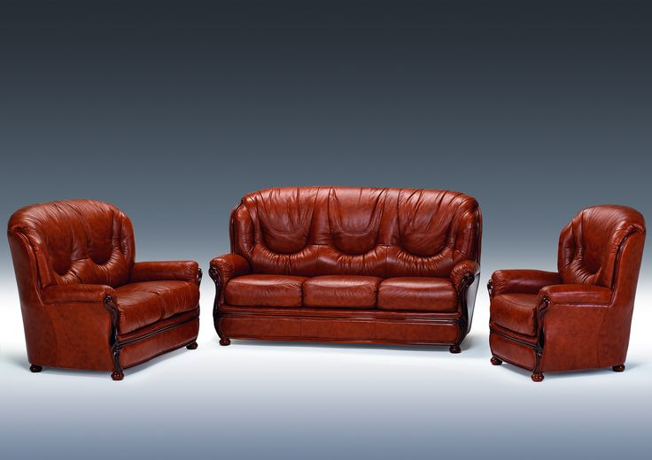 Canapea Piele 3 Locuri Dallas   Mobila Simex