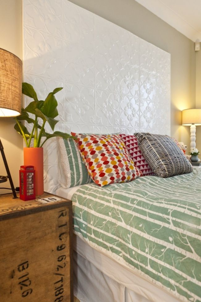 Our Bedroom Makeover: Before and Afters | House Nerd - cool headboard.