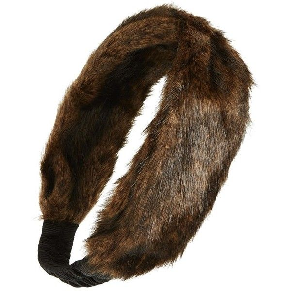 Women's Grace Hats Faux Fur Headband ($29) ❤ liked on Polyvore featuring accessories, hair accessories, stretchy headbands, hair band headband, grace hats, faux fur headband and head wrap headband