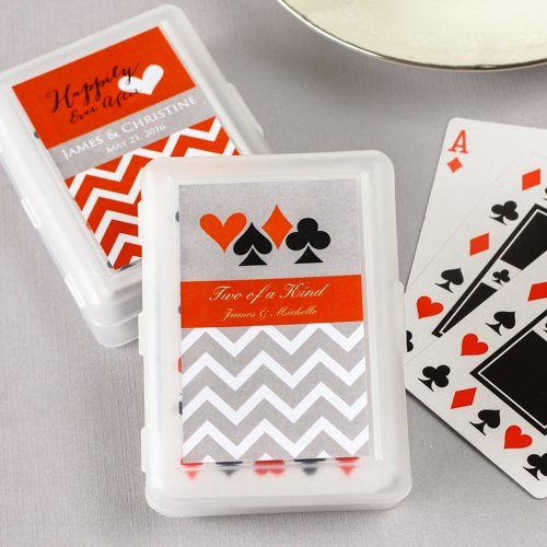 Wedding Favours: Themed Playing Cards with Personalized Labels