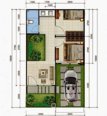 Gambar Denah Rumah Minimalis Type 36 2