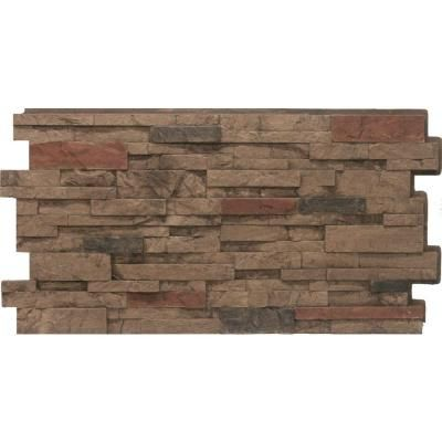Urestone Stacked Stone #25 Mocha 24 in. x 48 in. Stone Veneer Panel (4-Pack)-DP2625-25 - The Home Depot