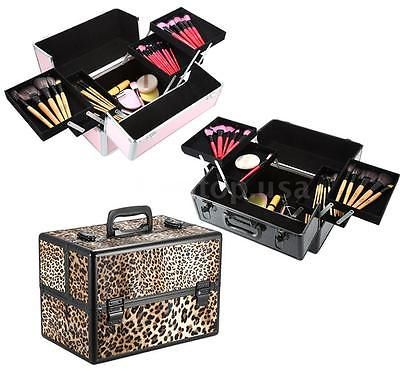 Makeup Bags and Cases: 2 Layers Large Lockable Cosmetic Organizer Makeup Box Case Stand Storage X4i3 -> BUY IT NOW ONLY: $33.45 on eBay!