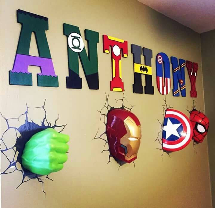 Great Boys Room Idea, Mix DC And Marvel Lol