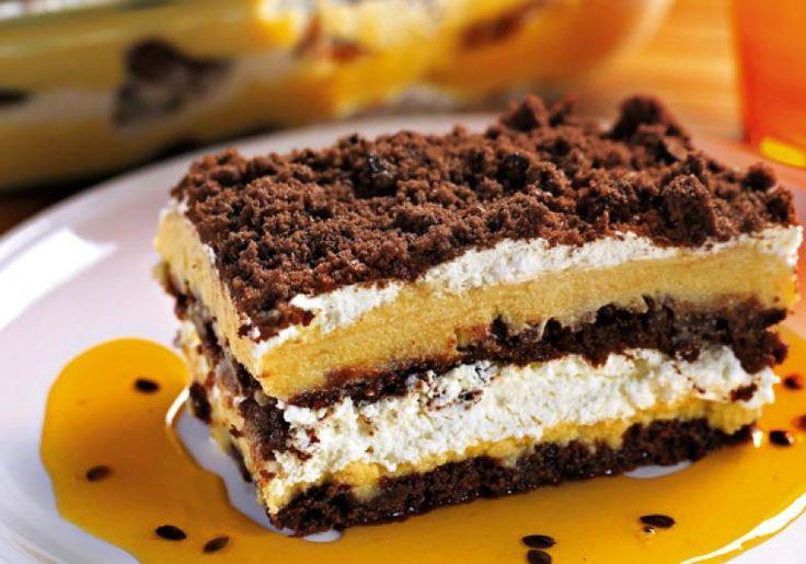 Quando você disser que o pavê de maracujá com cookies de chocolate só demora 30 minutos, ninguém vai acreditar!