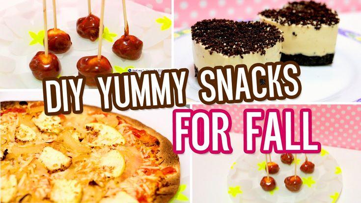 DIY leckere Snacks und Leckereien für den Herbst !! Tortilla-Pizza, Mini-Karamell-Appli …   – Sugar crush