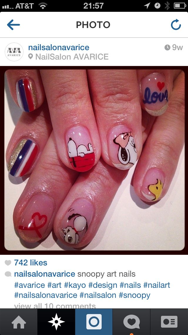 13 best Nails snoopy images on Pinterest | Peanuts, Snoopy and Nail ...