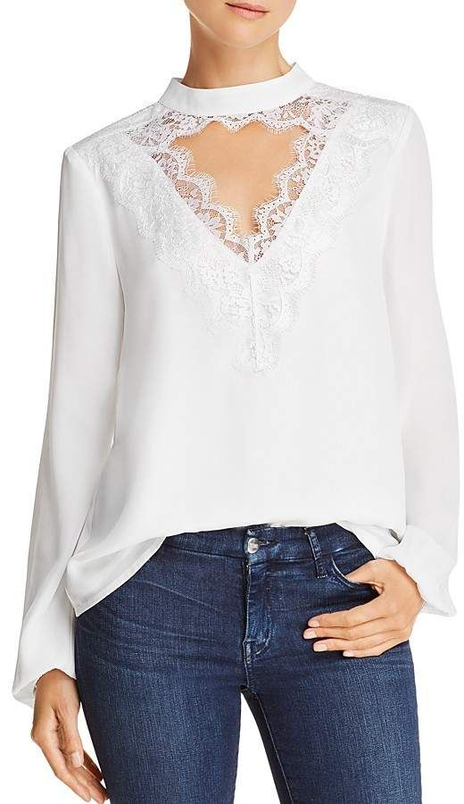 82175adb4ed6b WAYF Lace-Trim Cutout Top - 100% Exclusive