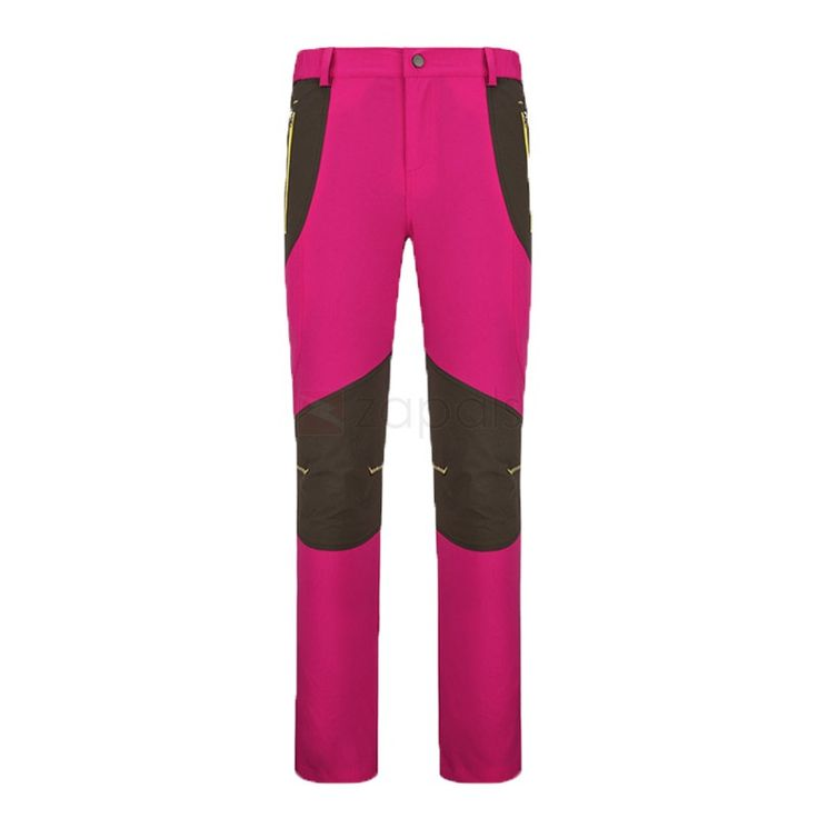 Women's Lightweight Breathable Waterproof Hiking Pants With Reinforced Knees, Deep Pink. Lightweight, quick-drying, breathable, abrasion resistant and anti-UV. Articulated knees for comfort and movement. Elasticized waistband for custom fit.Quick Dry Hiking Pants Fabric	100% Polyester Thickness	Regular Season	Spring, Summer, Autumn Activity	Hiking, Camping, Climbing, Fishing and more Size	(Women) M/L/XL/2XL/3XL