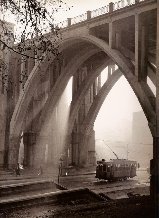 Viaducto de la Calle Bailén. Madrid. Spain. Photographed by Francesc Catalá-Roca. '50s.