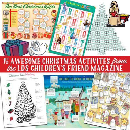 15 Awesome Christmas Activities from the LDS Children's Friend