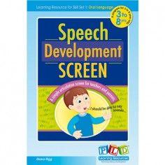 Screen Of Speech Development
