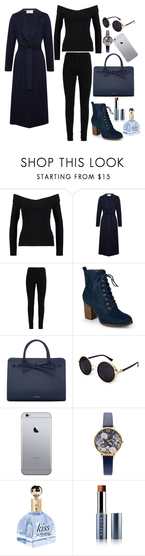 Bleu by amystyles-i on Polyvore featuring mode, Harris Wharf London, Journee Collection, Mansur Gavriel, Olivia Burton and Vapour Organic Beauty