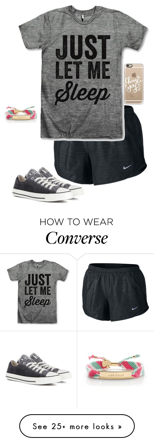 """""""Facetime"""" by livimay on Polyvore featuring NIKE, Converse, Casetify and Kate Spade"""