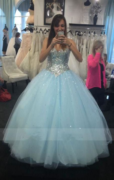 941bcdbce60 2019 的 Gorgeous Light Blue Tulle Ball Gown Prom Dress