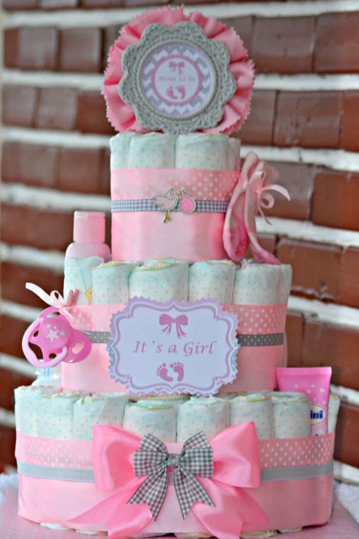 Tort scutece pampers... Diaper cake...For Baby Shower