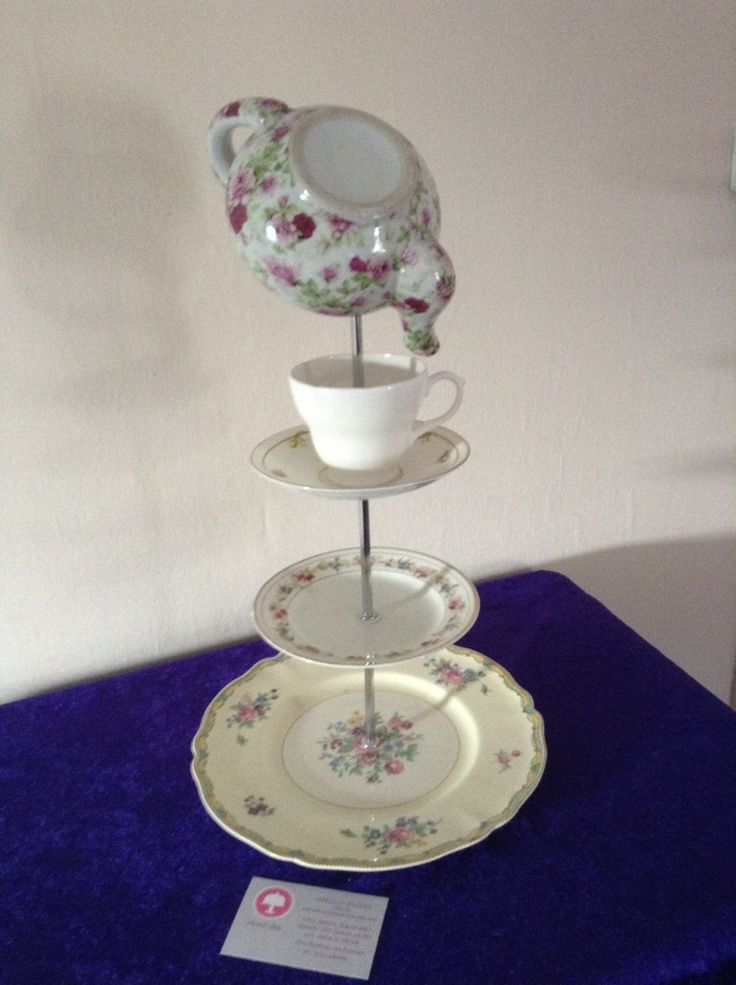 Quirky table centre piece/cake stand by FrontTier on Etsy