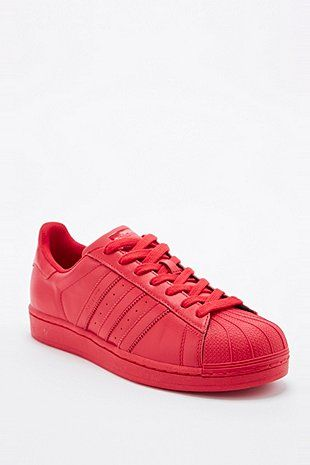 Adidas X Pharrell - Baskets Supercolor Superstar rouges - Urban Outfitters