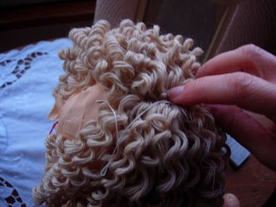 How to put curly hair on a doll