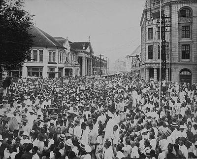 Prosesi pemakaman Tjong A Fie di Medan, 1921.