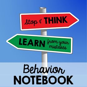 Savvy Scaffolds: 7 Reasons why I use a Behavior Notebook in my Classroom. This post talks about how to implement a behavior notebook and why. A lot of really great ideas. I can't wait to try it out! #TeachingMissLindsey #BehaviorNotebook