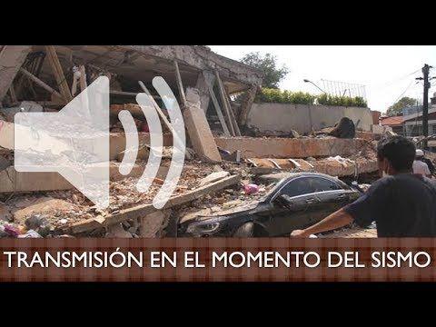 TRANSMISIÓN DE RADIO EN EL MOMENTO DEL SISMO 19 SEPT 2017. Fernanda Tapia. CDMX.