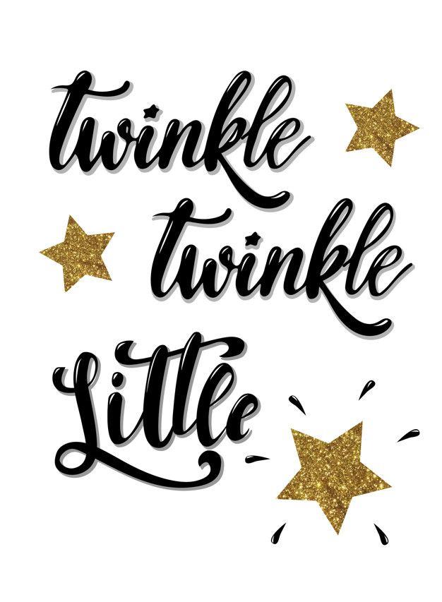 Twinkle Twinkle Little Star Card Banner Poster Design Twinkle Twinkle Little Star Twinkle Twinkle Little Star Decorations Twinkle Twinkle Baby Shower
