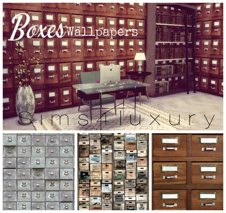 Sims4Luxury — Boxes Wallpapers