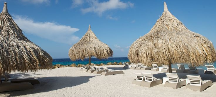 A perfect haven for relaxation: the beach at Morena Eco Resort, Curaçao, Caribbean.