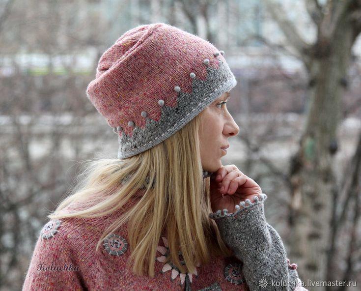 """Комплект """"Клубничный микс"""" в 2020 г   Свитер, Вязаные шапки"""