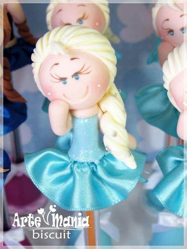 Caneta decorada Elsa Frozen