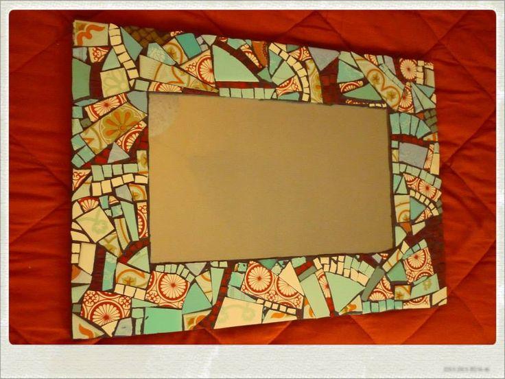 Mejores 9 im genes de mosaicos en pinterest espejos for Mosaicos para espejos