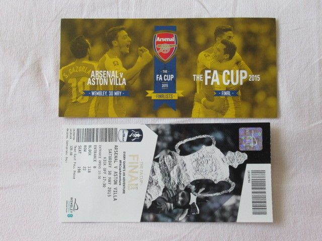 Football #ticket used fa cup #final 2015 #arsenal v aston villa,  View more on the LINK: http://www.zeppy.io/product/gb/2/112211775345/