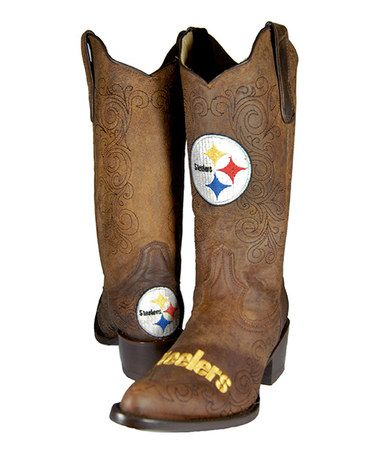 Take a look at this Pittsburgh Steelers Flyover Cowboy Boot - Women by Old Pro Leather Goods Co. on #zulily today!