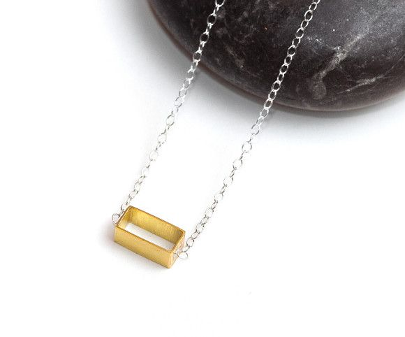 Geo minimalist and modern necklace. Camillette Jewelry
