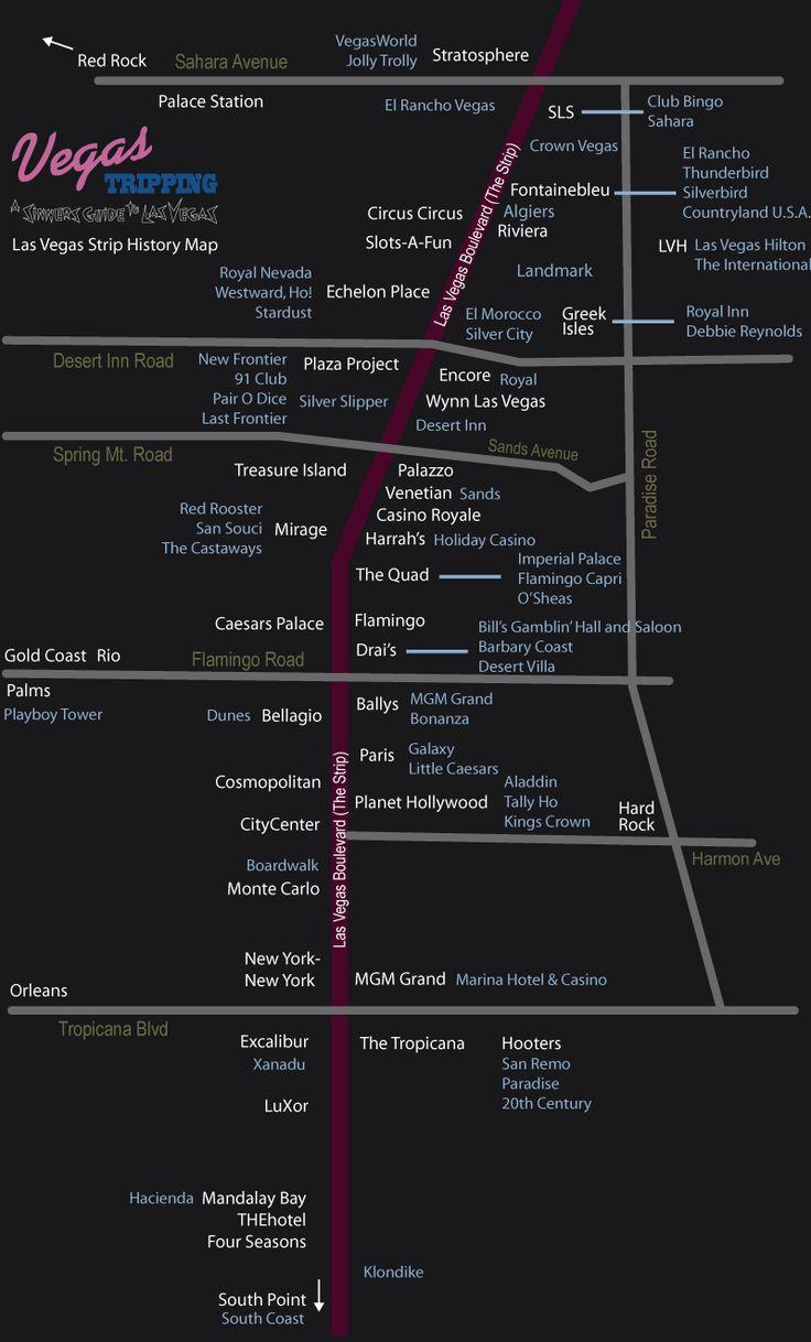 22 best Maps images on Pinterest  Las vegas hotels Map of las